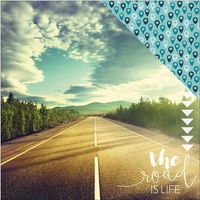 Discover USA: The Road Is Life 12 x 12 Double Sided Cardstock
