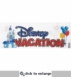 Disney Vacation Title Dimensional Sticker