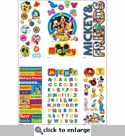 Disney Value Sticker Set - 4 Dimensional & 2 Flat Sheets