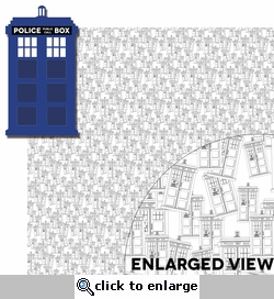 Doctor Who: Police Box 2 Piece Laser Die Cut Kit