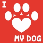 Doggie Luv: I Heart My Dog 12 x 12 Overlay Laser Die Cut