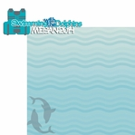 Dolphin: Custom Swimming with the Dolphins 2 Piece Laser Die Cut