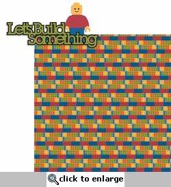 Downtown: Lets Build Something 2 Piece Laser Die Cut Kit