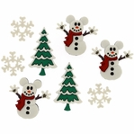 Dress It Up: Mickey Snowmen Embellishments