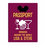 Drinking aroung the World: Custom Passport Laser Die Cut