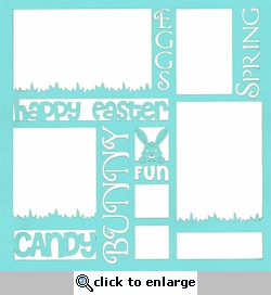 Easter Words 12 x 12 Overlay Laser Die Cut