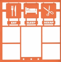 Eat, Sleep, Scrap 12 x 12 Overlay Laser Die Cut