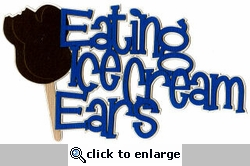 Eating Ice Cream Ears Laser Title Cut