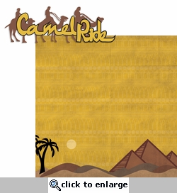 Egypt: Camel Ride 2 Piece Laser Die Cut Kit