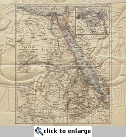 Egypt: Map and Egyptian Glyphs 12 x 12 Paper