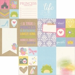 Enchanted 2x2 & 4x6 Journaling Cards Silver Foil Elements 12 x 12 Cardstock