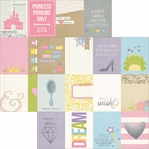 Enchanted 3x4 Journaling Cards Silver Foil Elements 12 x 12 Cardstock