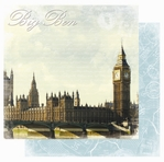 Europe: Big Ben 12 x 12 Double-Sided Glitter Paper
