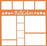 Fall Colors 12 x 12 Overlay Laser Die Cut