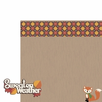 Fall Critters: Sweater Weather 2 Piece Laser Die Cut Kit