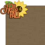 Fall Fun: Hello Fall 2 Piece Laser Die Cut Kit