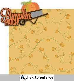 Fall Fun: Pumpkin Patch 2 Piece Laser Die Cut Kit