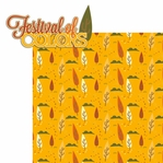 Falling Leaves: Festival of Colors 2 Piece Laser Die Cut Kit