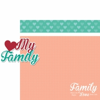 Family: Heart My Family 2 Piece Laser Die Cut Kit