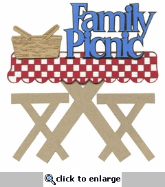 Family Picnic Laser Die Cut