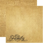 Family Tree 12 x 12 Double-Sided Cardstock