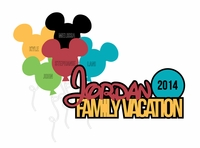 Family Vacation: Custom Family Vacation Laser Die Cut