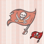 Fanatic: Tampa Bay Buccaneers 12 x 12 Paper