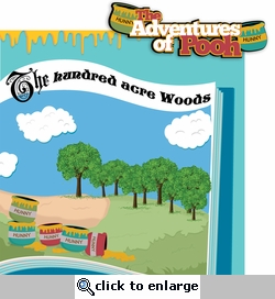Fantasy Land: Adventures of Pooh 2 Piece Laser Die Cut Kit