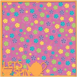 Fantasy Land: Let's Spin 12 x 12 Overlay Quick Page Laser Die Cut