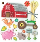 Farm Life Dimensional Sticker