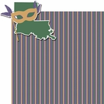 Fat Tuesday: Bourbon Street 2 Piece Laser Die Cut Kit