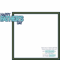 Father's Day: Father's Day 2 Piece Laser Die Cut Kit
