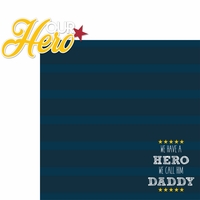 Father's Day: Our Hero 2 Piece Laser Die Cut Kit