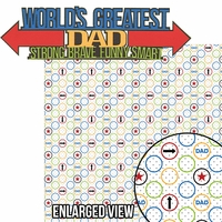 Father's Day: World's Greatest Dad  2 Piece Laser Die Cut Kit