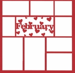 February 12 x 12 Overlay Laser Die Cut