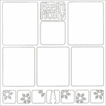 Feelin' Frosty 12 x 12 Overlay Laser Die Cut