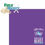 Field Hockey 2 Piece Laser Die Cut Kit