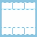 Film Reel: Film Strip 12 x 12 Overlay Laser Die Cut