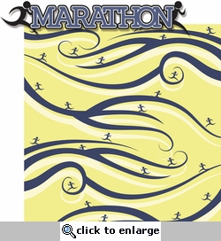 Finish Line: Marathon 2 Piece Laser Die Cut Kit