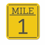 Finish Line: Mile 1 Laser Die Cut