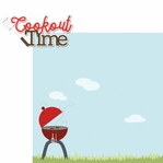 Fire Up The Grill: Cookout Time 2 Piece Laser Die Cut Kit