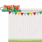 Fire Up The Grill: Good Food 2 Piece Laser Die Cut Kit