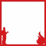 Firefighter 12 x 12 Overlay Laser Die Cut