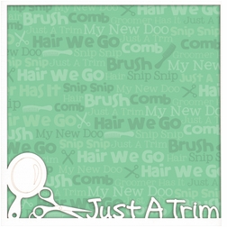 First: Just A Trim 12 x 12 Overlay Quick page Laser Die Cut