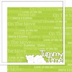First: Tummy Time 12 x 12 Overlay Quick page Laser Die Cut