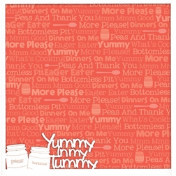 First: Yummy In My Tummy 12 x 12 Overlay Quick page Laser Die Cut