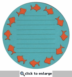 Fish Journal Block Laser Die Cut