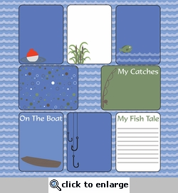 Fish Tale: Halvsies - Journaling Cards 12 x 12 Paper