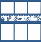 Fish Tank 12 x 12 Overlay Quick Page Laser Die Cut