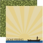 Fishing 12 x 12 Double-Sided Cardstock